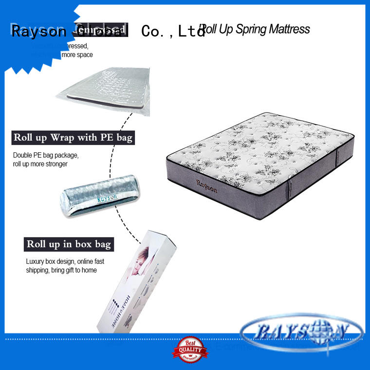 Rayson Brand size full coil custom roll up mattress queen