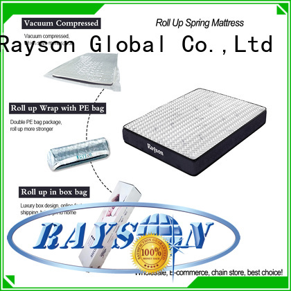 hot-sale roll out mattress knitted fabric reliable with pillow