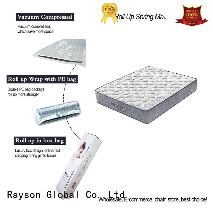 Rayson on-sale roll up bed mattress vacuum compressed for sale