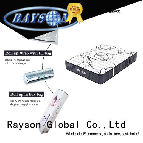 Rayson customized rolled foam mattress top for wholesale
