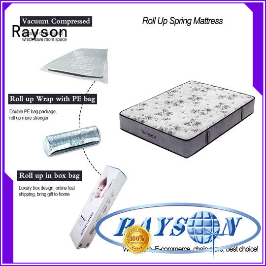 Rayson euro mattress rolled up in a box tight for wholesale
