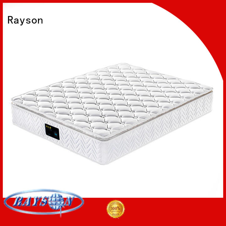 Rayson luxury pocket sprung mattress king knitted fabric light-weight