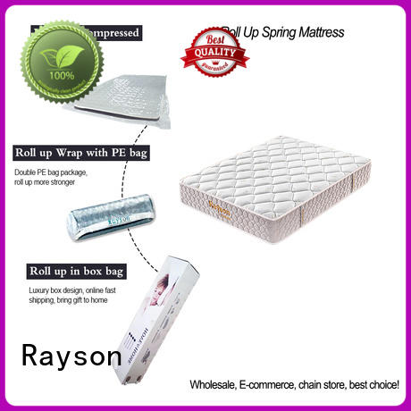 Rayson Brand king available latex rolled foam spring mattress manufacture