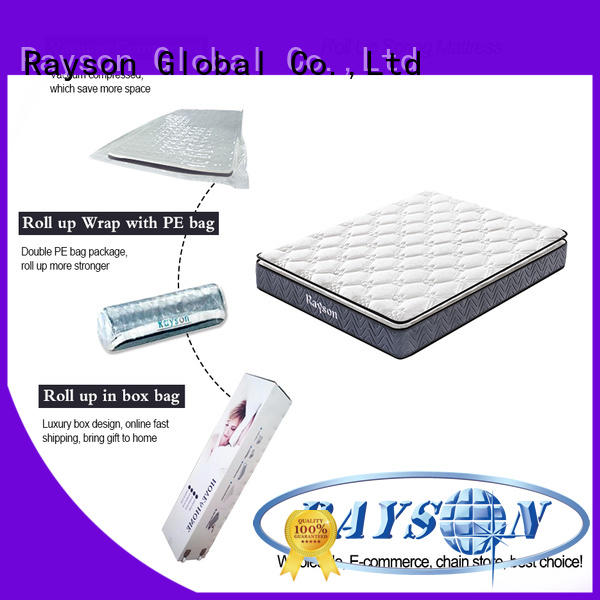 Rayson comfortable roll packed mattress at discount with pillow