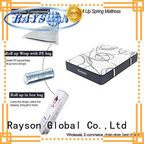 Rayson latex rolled memory foam mattress tight